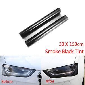 30x 150cm Smoke Black Tint Film Headlights Tail lights Car Vinyl Wrap Light New
