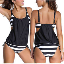 Polyester Plus Size Tankini Swimwear for Women