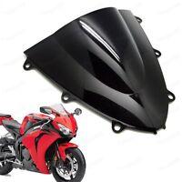Black Double Bubble Windscreen Windshield ABS for Honda CBR1000RR 2008-2011 09