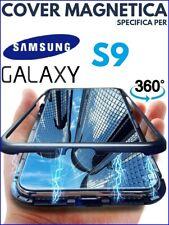 COVER MAGNETICA Per SAMSUNG GALAXY S9 CUSTODIA PROTEZIONE 360° VETRO TEMPERATO
