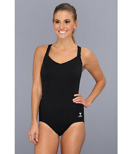 TYR SOLID HALTER CONTROLFIT T BACK ONE PIECE SWIMSUIT BLACK SIZE 6 NEW! $73