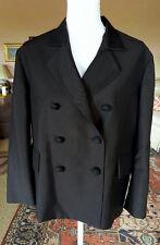 NEW BOTTEGA VENETA BROWN WOOL BLEND DOUBLE BREASTED JACKET 42 match dress listed