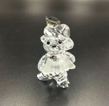 New Swarovski Crystal Kris Bear Figurine, Germany International Fritz Accordion