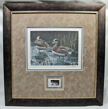 2010 Texas Waterfowl Duck Conservation Stamp Print Framed Mint American Wigeon