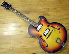 Univox Pro Jazzbox Electric Guitar MIJ 1970s Hollowbody Japan Aria Made SET-UP!