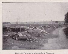 1914  --  ABRIS DE L INFNTERIE ALLEMANDE A CHAMBRY   3C349