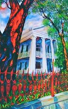New Orleans SOUTHERN PLANTATION print by Richard Lewis House Wrought Iron