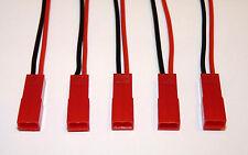 5 Stück JST BEC Stecker mit Kabel 100mm 5x Connector Lipo Akku männlich Male