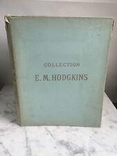 Catalogue de vente Collection E.M.HODGKINS 1914
