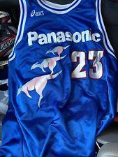 Game Worn Asic Panasonic Super Kangaroos Large Japan Basketball Jersey Nbl