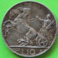ITALIE 10 LIRES 1927 R