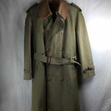 Brooks Brothers Trench Coat Sz 36 S Tan Flannel Lined Jacket Button Front  PP
