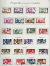 Lot timbres oblitérés Afrique Equatoriale Française Du N°33 au N° 71