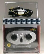 Zip Zaps Micro Remote Control Black Transformers Police Car ,Collectible