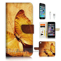 ( For iPhone 6 / 6S ) Wallet Case Cover P3379 Butterfly