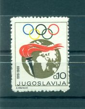 FIACCOLA OLIMPICA - OLYMPIC TORCH YUGOSLAVIA 1969 Olympic Week Charity Stamp A