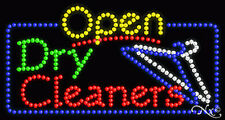 "New ""Open Dry Cleaners"" 32x17 Solid/Animated Led Sign W/Custom Options 25487"
