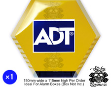 ADT Alarm Box Printed Sticker REFRESH REPLACEMENT Ideal Live Decoy Office Window