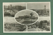 1948 RP MULTI VIEW PC OF DUBLIN - AIRPORT, BANK, O'CONNELL BRIDGE ETC