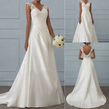 Womens WEDDING Dress Evening Party Long Prom Gown Bridesmaids Ball Lace Cocktail