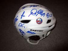 New York Islanders 2017-18 Team Signed Hockey Helmet Coa Tavares Ho-Sang Barzal