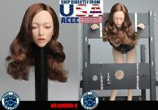 1/6 Asian Female Head Sculpt C Closed Eyes SUPERDUCK For PHICEN TBLeague U.S.A.