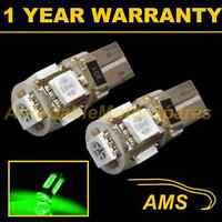 2X W5W T10 501 CANBUS ERROR FREE GREEN 5 LED SIDELIGHT SIDE LIGHT BULBS SL101301