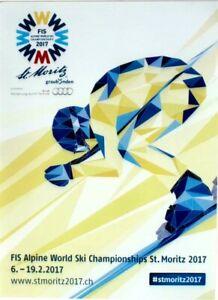 Original vintage poster SKI ALPINE FIS W.C.ST.MORITZ 2017
