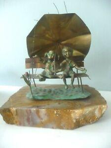 MCM Children Rain Park Bench Brian BIJAN Metal Sculpture Quartz Copper Bronze