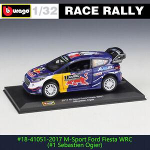 BBURAGO 1:32 Ford fiesta wrc #1 DS WRC rally car alloy model