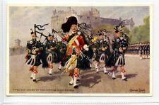 (Ld3097-465) Artist Signed, Pipes & Drums, Gordon Highlanders, Unused VG