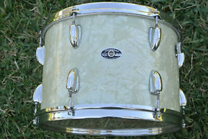 """60s SLINGERLAND USA 13"""" WHITE MARINE PEARL TOM for YOUR BUDDY RICH DRUM SET M424"""