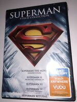 NEW Superman 5 Film Collection DVD Box Set Factory Sealed 1 2 3 4 Returns