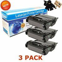 3 PK Black Toner Cartridge For Lexmark T650 T652 T654 T656 T650H11A T650H21A 25K