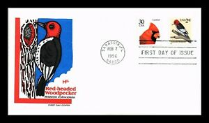 DR JIM STAMPS RED HEADED WOODPECKER FDC COMBO HOUSE OF FARNUM CACHET US COVER