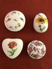 Limoges Authentic French trinket Boxes Lot of 4 Euc