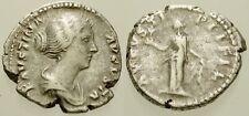 008. Roman Silver Coin. DIVA FAUSTINA Jr., AR Denarius. Rome. Spes. aVF