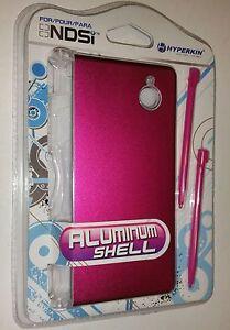 NEW Sealed Pink Aluminum Shell with 2 Stylus Pens for Nintendo DSi Hyperkin 17J