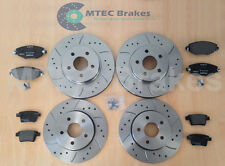 MONDEO ST220 DRILLED GROOVED BRAKE DISCS Front Rear Pad 2004-2007