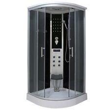 Cabina box doccia idromassaggio led 90x90 o 100x100 con seggiolino piegevole|de