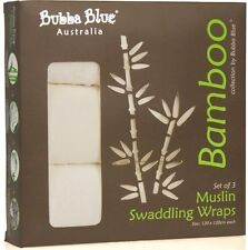 Bubba Blue Bamboo Muslin Wrap Set 3pce