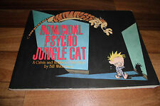 Calvin and Hobbes -- HOMICIDAL PSYCHO JUNGLE CAT // Querformat 1996 B. Watterson