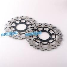 Front Brake Disc Rotors Set For Honda CBR 600RR 2003-2013 F5 Pair Black