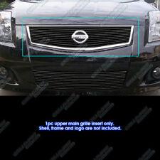 Fits 2007-2010 Nissan Sentra SE-R Black Main Upper Billet Grille Insert