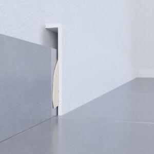 Sockelleiste Abdeckleiste Verblendung für Fliesensockel weiß -aufkleben - fertig
