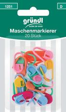 Gründl 20 Maschenmarkierer verschiedene Farben verschließbar Kurzwaren 1251