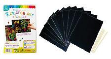 NEW Plain Scratch Art Kit (10 cards + 4 sticks) for party, fete, fundraising ..