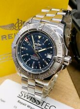 Breitling Colt Automatic A17380 Blue Dial Box & Paperwork SERVICED BY BREITLING