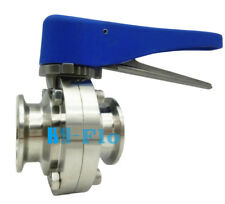 """4"""" Sanitary Stainless Steel 304 Clamp Multi-Position Handle Butterfly Valve"""