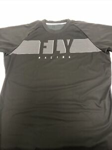 Fly Racing Windproof Jersey Black/Grey 354-80102X Open Packaging